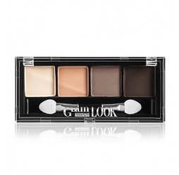 Тіні матові Glam Look 4-х кольорові 4г тон 02