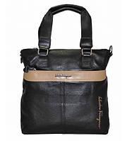 Мужская сумка кожаная Salvatore Ferragamo черная, фото 1