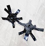 Насадка культиватор-сапка для бензокоси 26 і 28 мм штанга (вал 7 і 9 шліців) на підшипниках, фото 4