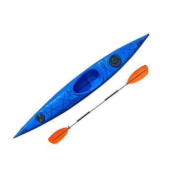 Каяк Riverday One GO 440 х 61 - одноместный Sit-in каяк для прокату та личного использования, sit-in kayak