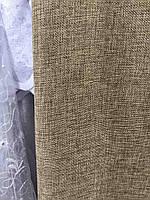 Тканина лляна в кавовому кольорі на метраж (М1-20), фото 5