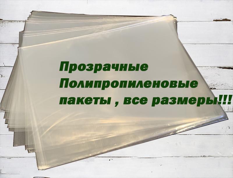 Пакет прозорий поліпропіленовий 20*30\25мк (1000 шт)