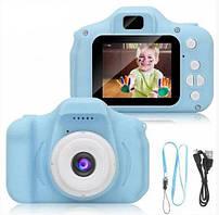 Детский цифровой фотоаппарат- камера Smart Kids X200 голубой