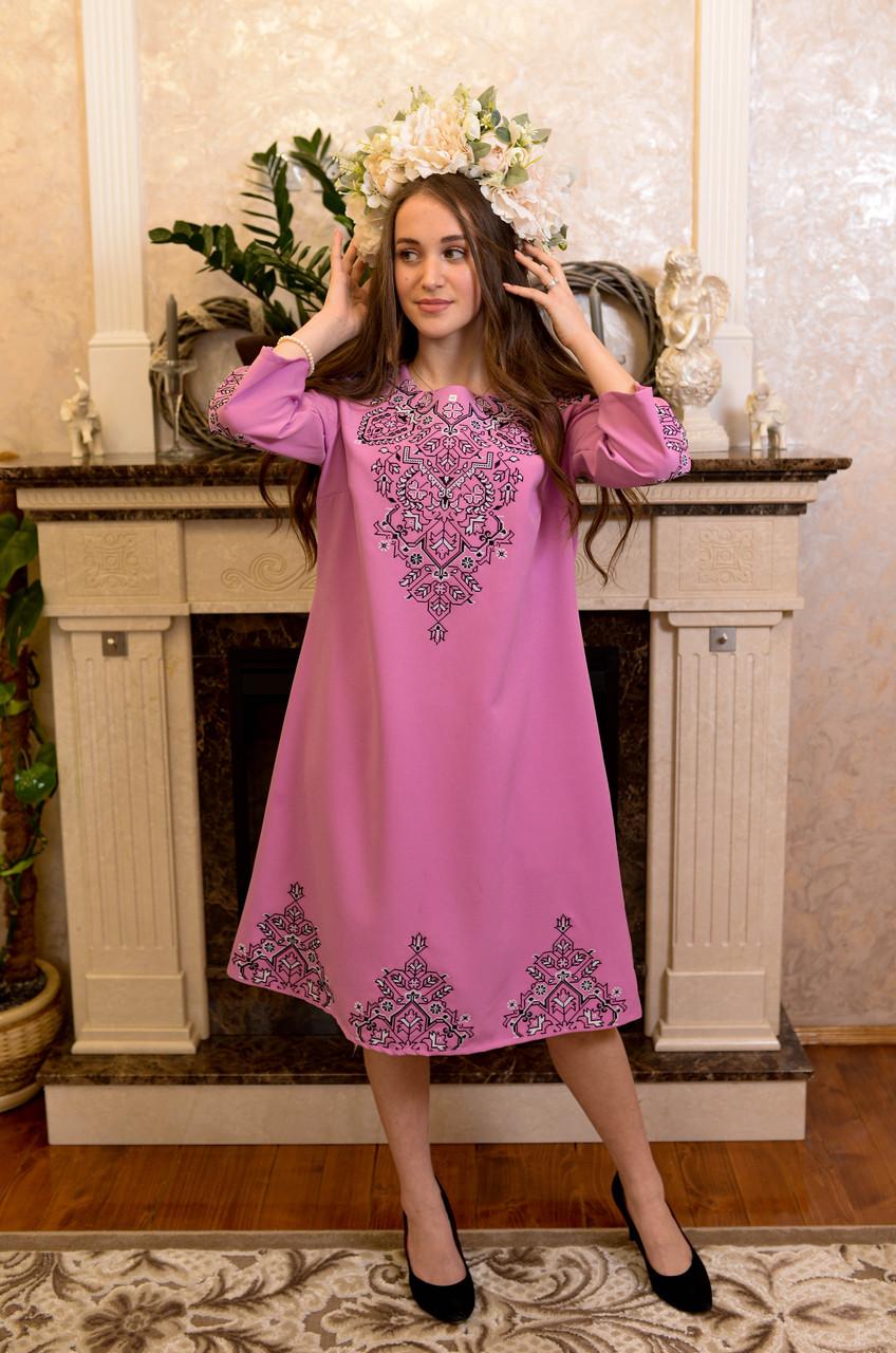 Рожева вишита сукня-це просто ж мрія🌸💜