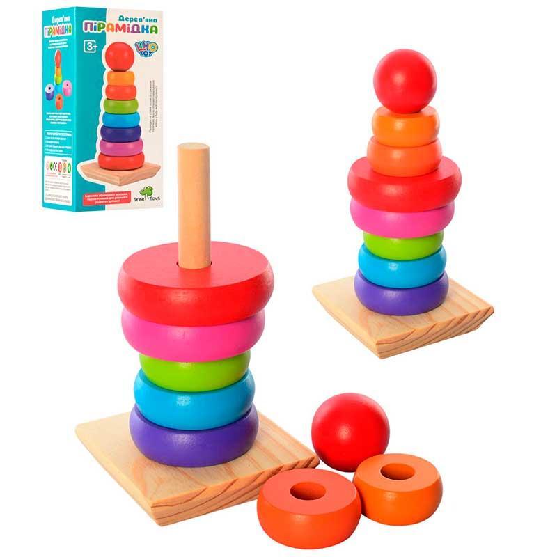 """Дерев'яна іграшка """"Пірамідка"""" MD 1215"""