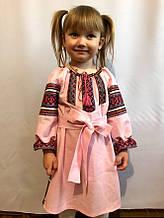 Льняное детское платье вышиванка
