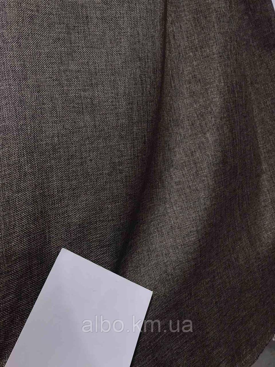 Легка лляна тканина в коричневому кольорі на метраж (М1-08)