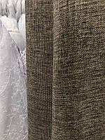 Легка лляна тканина в коричневому кольорі на метраж (М1-08), фото 3