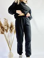 Спортивные женские штаны-джогеры черные с высокой посадкой размер M JOGx1
