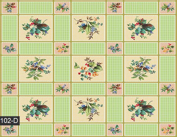 Клеёнка скатерть в клеточку с цветами, фото 2