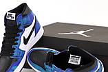 Кросівки жіночі Nike Air Jordan 1 Retro Blue Sea в стилі найк джордан Морські (Репліка ААА+), фото 7