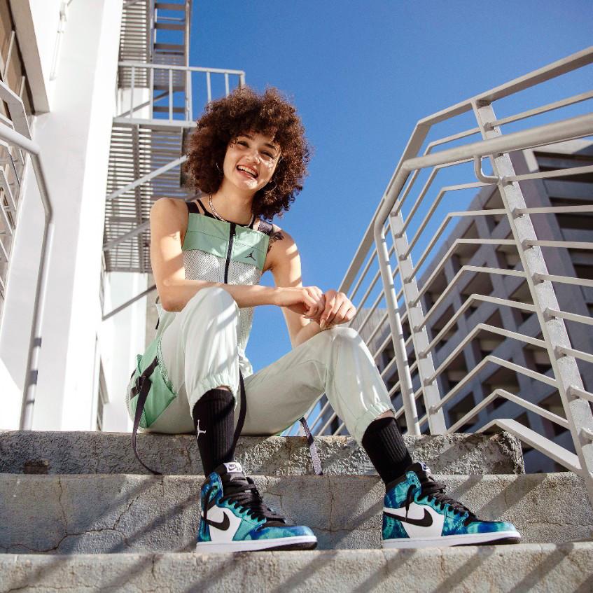 Кросівки жіночі Nike Air Jordan 1 Retro Blue Sea в стилі найк джордан Морські (Репліка ААА+)