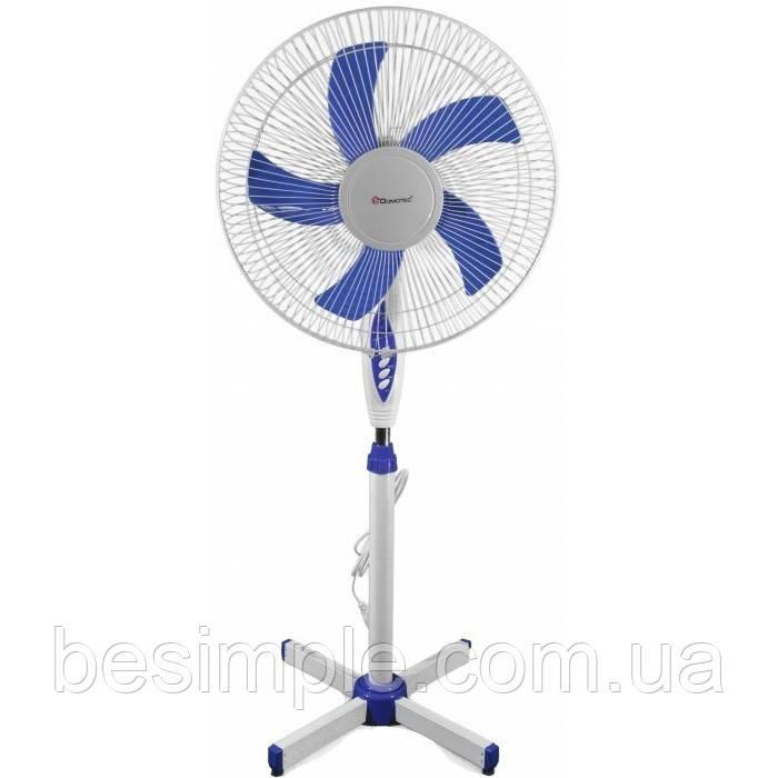 Підлоговий вентилятор Domotec MS-1621 з таймером і пультом (40 Вт, 44 см)