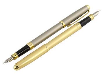 """Ручка чорнильна метал. """"Baixin"""" №FP801G(-4-8) матов. золото/срібло(12)"""