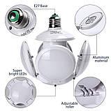 Лампочка люстра світлодіодна розкладна LED лампа 40Вт 220В E27 Football UFO Lamp new bubble, фото 4