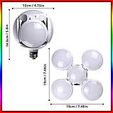 Лампочка люстра світлодіодна розкладна LED лампа 40Вт 220В E27 Football UFO Lamp new bubble, фото 5