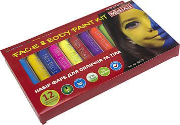 Набір фарб для обличчя та тіла у формі олівця,12 кольорів №MX60175(12)(72)