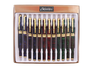 "Ручка чорнильна метал. ""Baixin"" №FP801MG/1257 мармур(12)"
