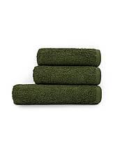 Набор махровых полотенец зеленый-Хаки
