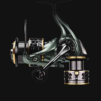 Спиннинговая катушка LINNHUE JH3000. Надежная рыболовная катушка, запасная шпуля металлическая.