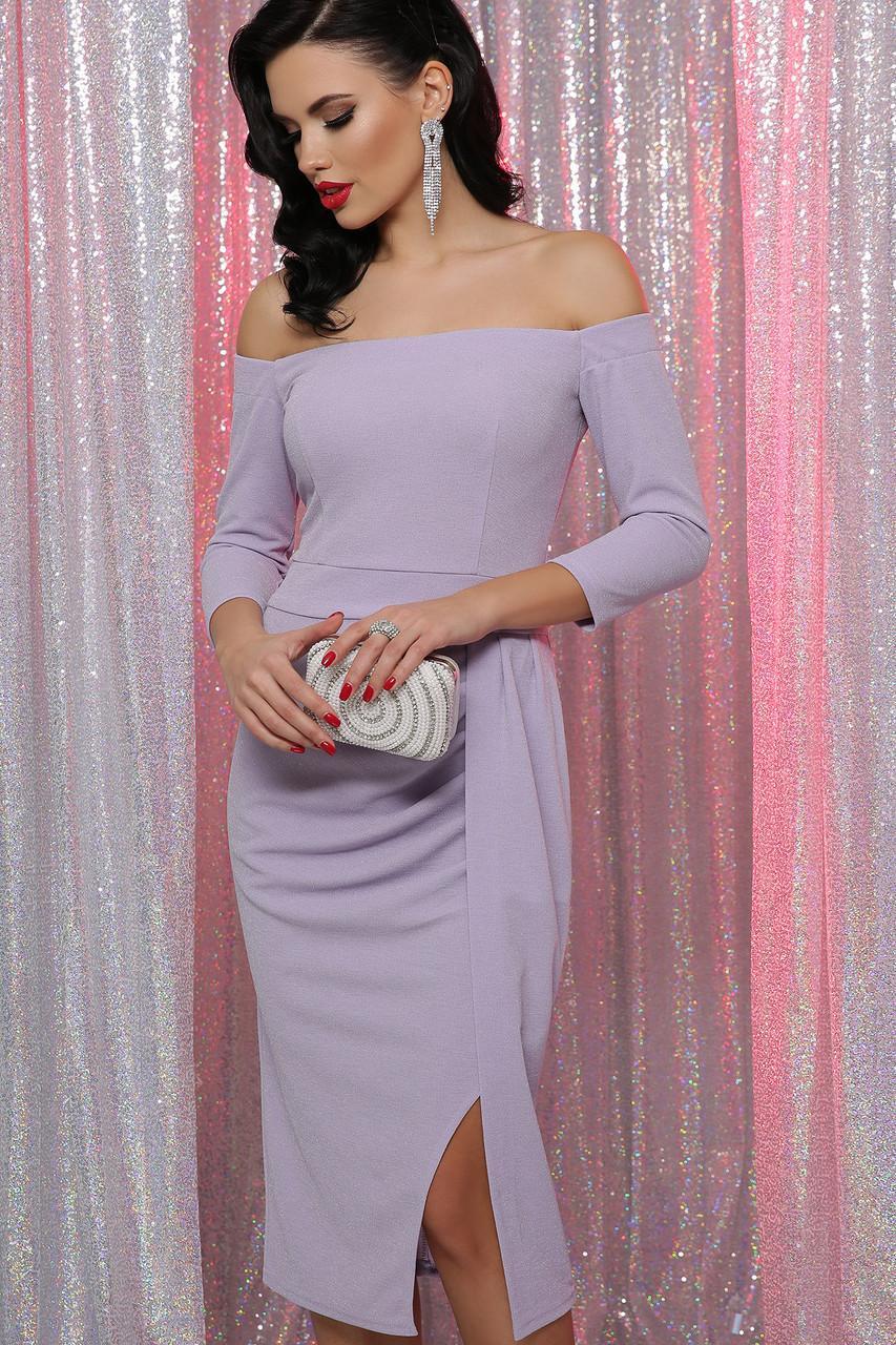 Коктейльное  платье  с открытыми плечами  Амелия д/р