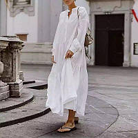 Тонкое свободное  платье, батист, 100% хб. ХС-12ХЛ. Цвет в ассортименте