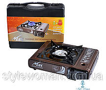 Портативна газова Плита MAX MS-2500LPG (Корея, коричнева)
