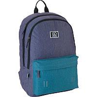 Рюкзак Сity 140-1 сірий, бірюзовий GoPack