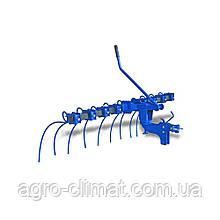 Грабли для мотоблока навесные 9-ти секционные с подъемным механизмом ГР-1,2