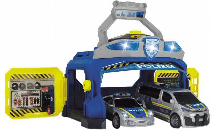 """Игровой набор """"Командный пункт полиции"""" (2 машинки, звук и свет) Dickie Toys, 3+ (3715010)"""