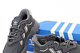 Мужские кроссовки Adidas Ozweego в стиле Адидас Озвиго Серые (Реплика ААА+), фото 7