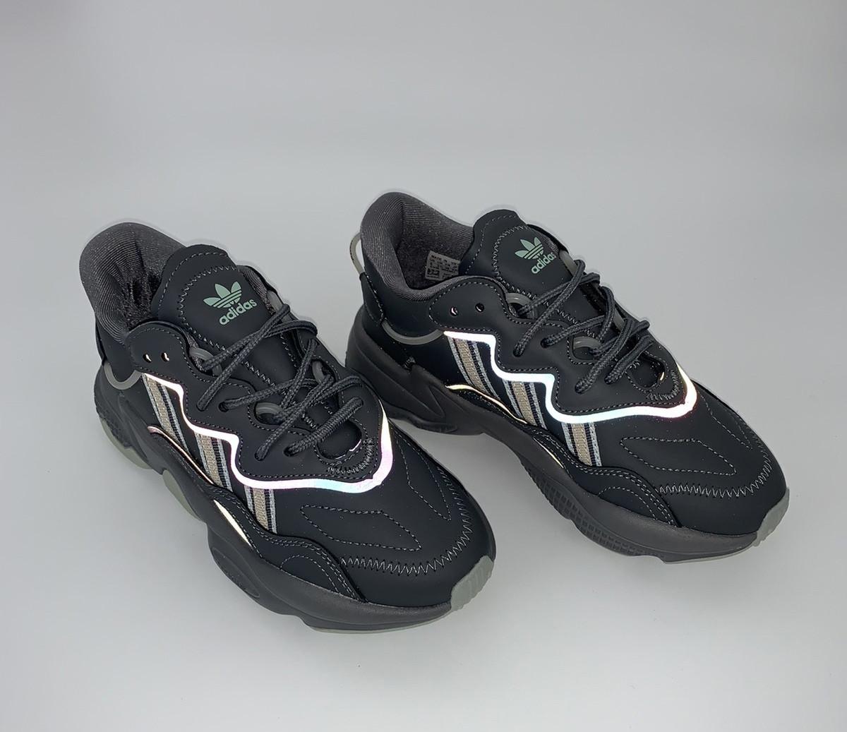 Мужские кроссовки Adidas Ozweego в стиле Адидас Озвиго Серые (Реплика ААА+)