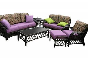 CRUZO Комплект меблів Феофанія Преміум CRUZO (диван, софа, крісло, пуф і столик) натуральний ротанг,