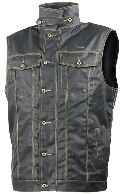 Мотожилет Trilobite 1990 Wax cotton vest джинсовий чоловічий чорний, М