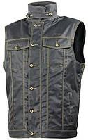 Мотожилет Trilobite 1990 Wax cotton vest джинсовый мужской черный, XL