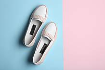 VM-Villomi Кожаные светлые мокасины без шнурков