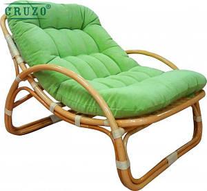 Плетенное лаунж-крісло Cruzo Соло натуральний ротанг медовий kr0024