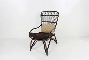 CRUZO Крісло Дрім CRUZO натуральний ротанг, темно-коричневий, ok0032