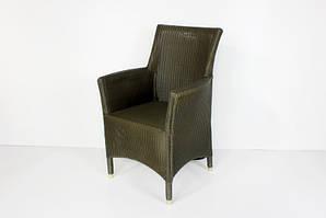 Плетене крісло Париж CRUZO лум сіро-зелений sd0744