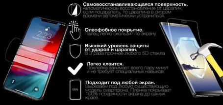 Гідрогелева захисна плівка AURORA AAA на OnePlus One на весь екран прозора, фото 2