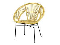 Плетеный стул Луна CRUZO натуральный ротанг медовый для сада кафе на террасу