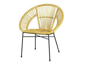Плетений стілець Місяць CRUZO натуральний ротанг медовий для саду кафе на терасу