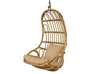 Подвесное кресло-плетенное Cruzo Шелл-2 натуральный ротанг