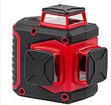 Лазерный уровень Intertool MT-3057 на 3 лазерные головки проецирование 3 линиями под углом 360 град., фото 2