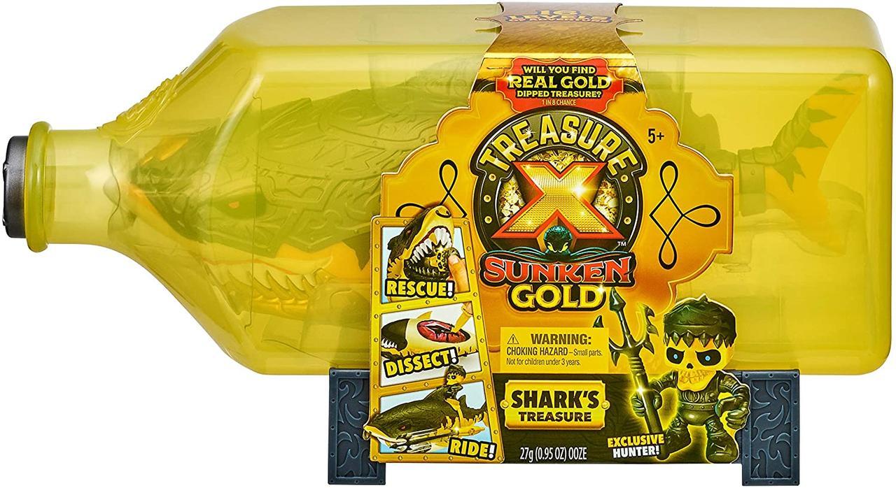 Набор Тигровая Акула в бутылке, светится в темноте, Treasure X Sunken Shark, Оригинал из США