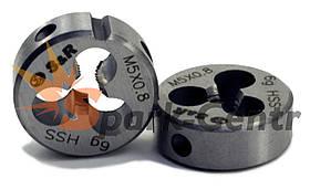 Плашка S&R М5х0,8 з метричною різьбою 6g HSS P6M5 для машинно-ручної роботи (Німеччина)
