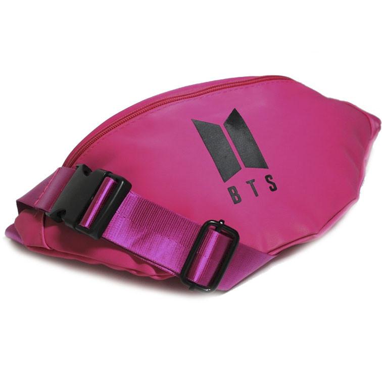 Сучасна молодіжна сумка-бананка BTS в різних кольорах одне відділення регульований ремінь Розміри: 30х13х6