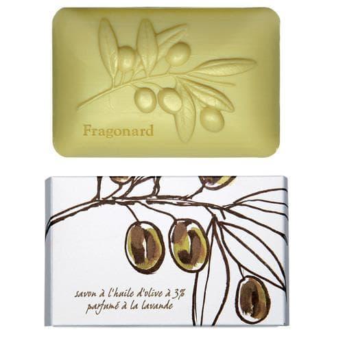 Мило з оливковим маслом (Fragonard Olive Oil Botanical Soap) з ароматом лаванди.