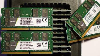 НОВАЯ Оперативная память для ноутбука DDR4 SO-DIMM 8GB (2400MHz, PC4-19200, APACER 78.C2GF4.4010B)