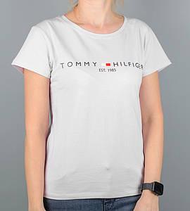 -Р - Футболка жіноча вільного крою Tommy Hilfiger Білий (2101жс), XXL